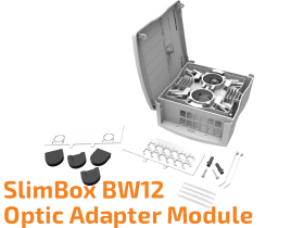 SlimBox BW12 - External Wall Mounted Optic Adapter Module
