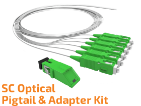SC Optik Pigtail ve Adaptör Kit