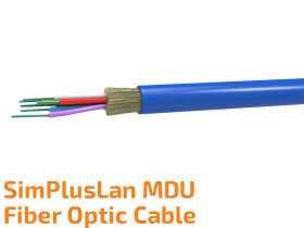 SimPlusLan MDU Fiber Optic Cable