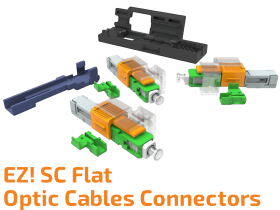 EZ! SC Connector for Flat Optic Cables