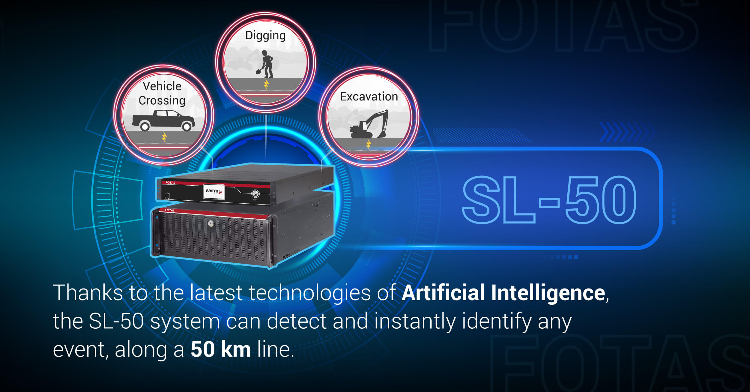 Fiber optic detection system SL-50 | Samm Teknoloji