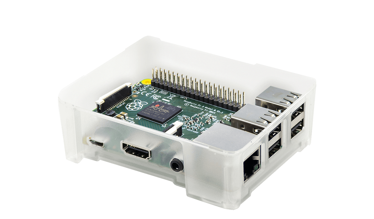 Modular Clear Case for Raspberry Pi 2 & 3