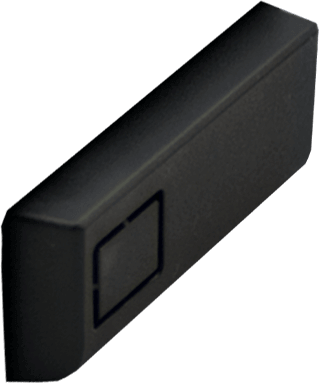 Black USB and Ethernet input Cover
