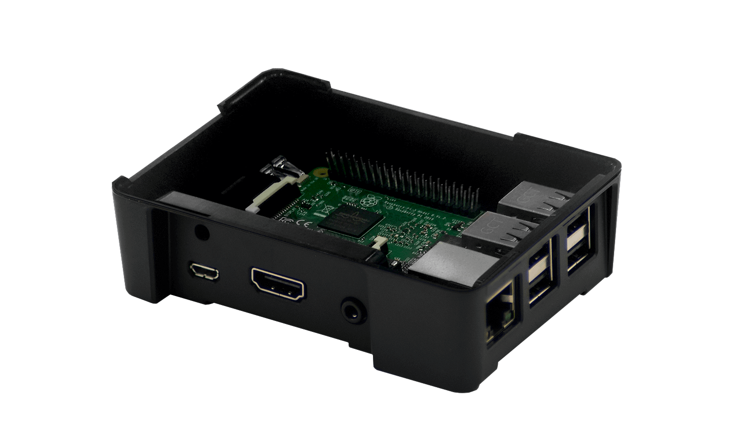 Black Raspberry Pi Modular Case