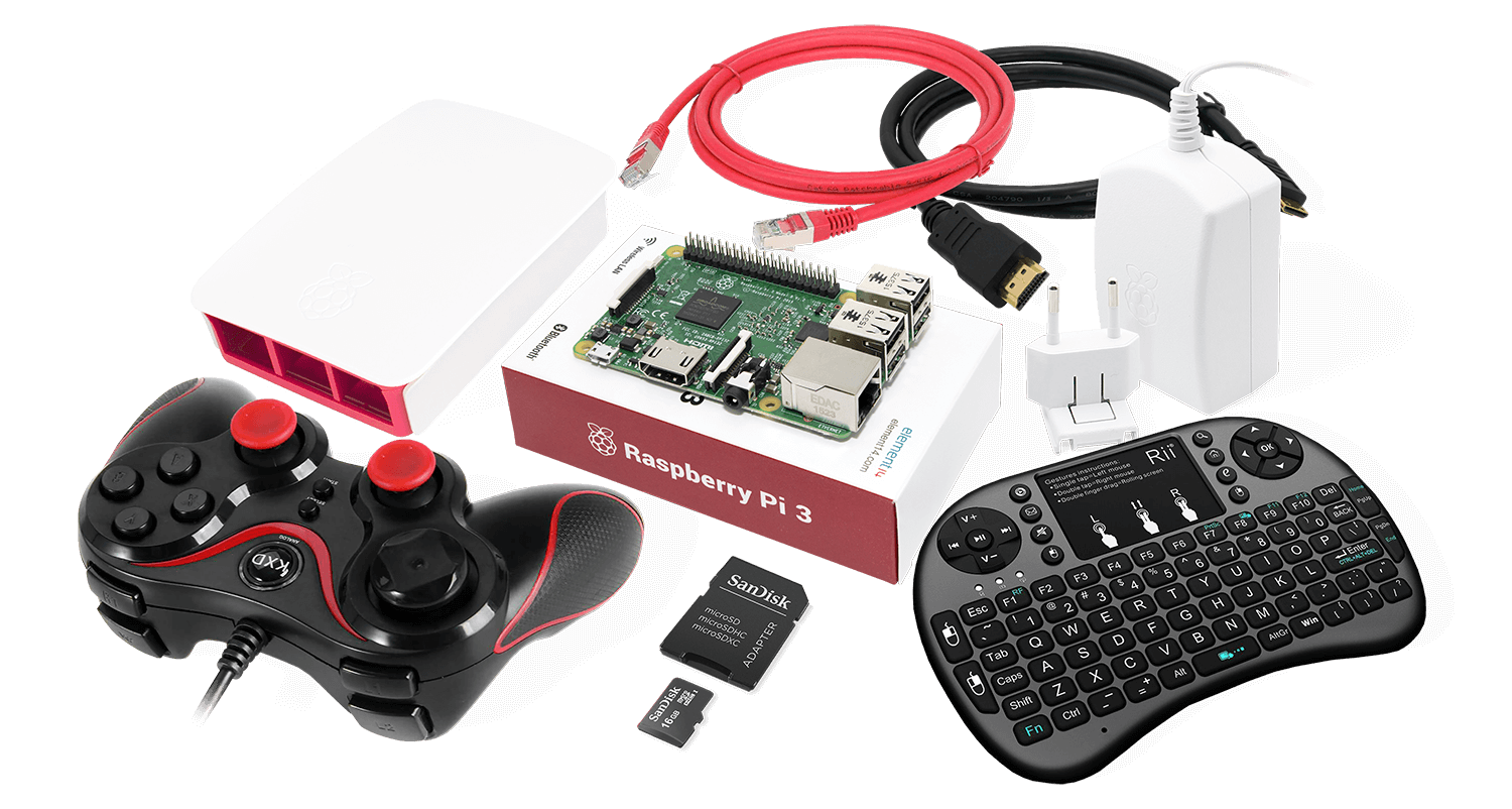 Raspberry Pi 3 RetroPie Gaming Kit