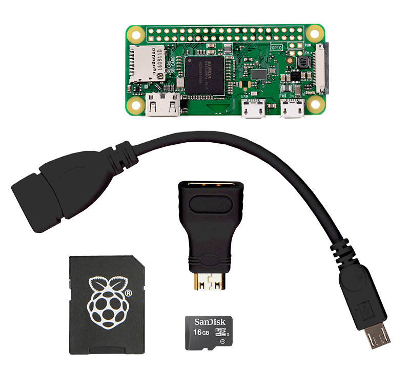 sample black cable Raspberry Pi zero wireless kit
