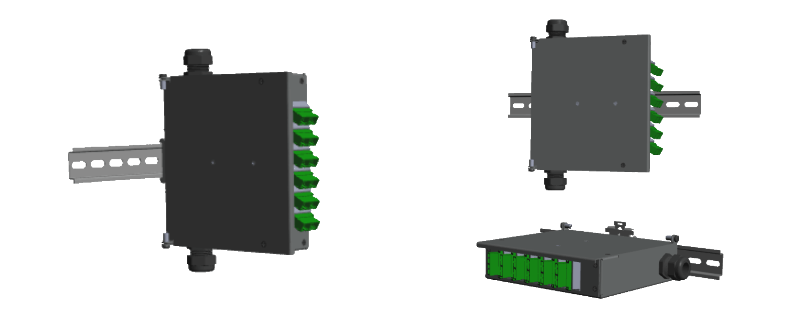 P1-SC-DX 12 FO Termination Box Mounting Options