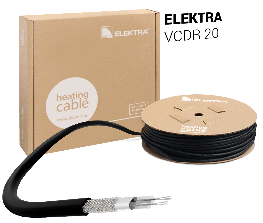 ELEKTRA VCDR 20 Heating Cable for Snow and Ice Protection for Roof and Gutter