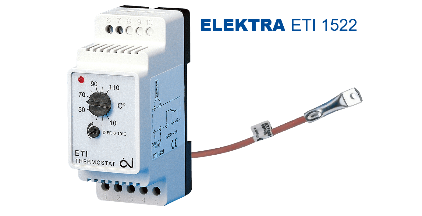 ELEKTRA ETI 1522 Thermostat | industrial Pipe Electric Heating Controller