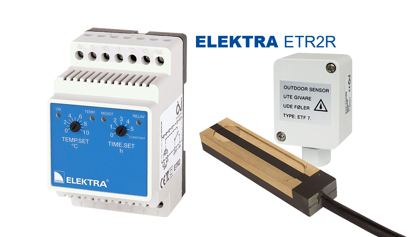 ELEKTRA ETR2R Thermostat - roof and gutter frost protection