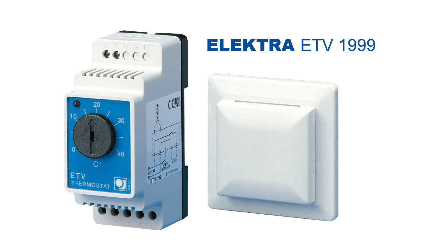 elektra-etv-1999-thermostat - floor heating  with wall socket sensor
