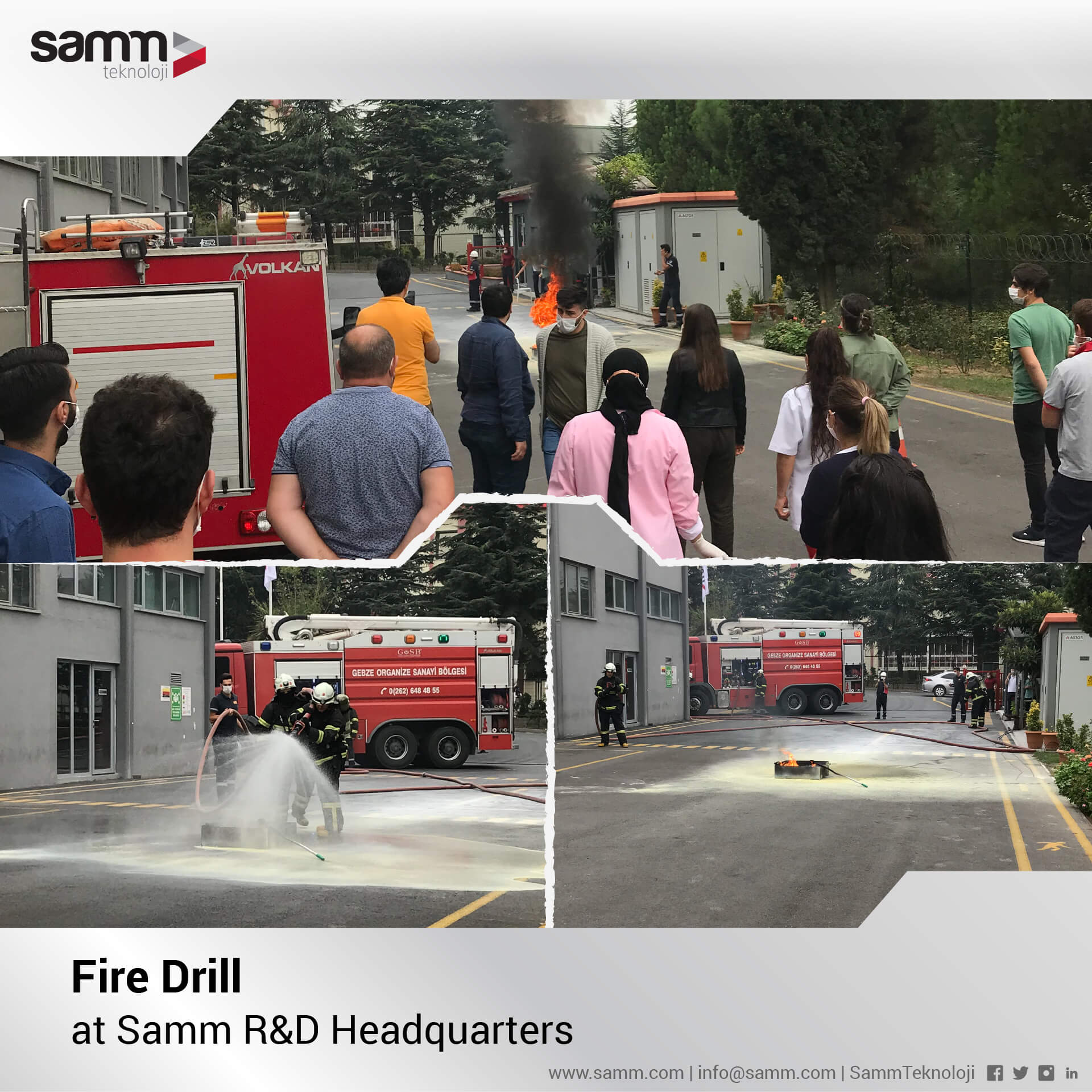 Fire Drill at Samm R&D Headquarters