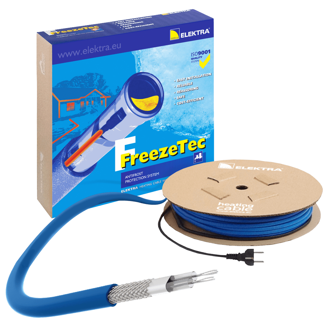 ELEKTRA FreezeTec Thermostat Heating Cable for Pipe Frost Protection