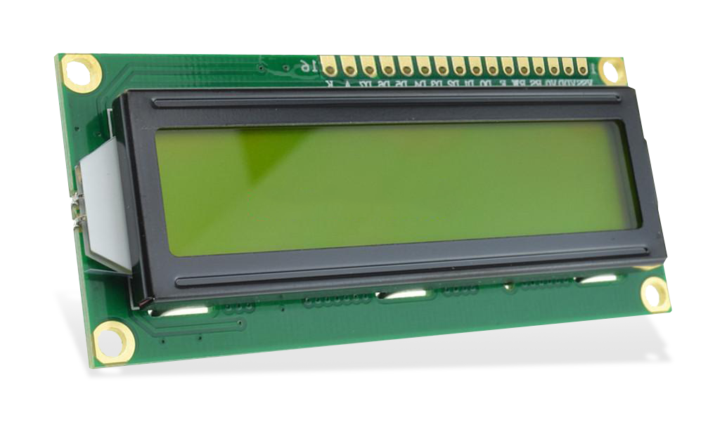 WaveShare LCD 1602 3.3V Yellow - 2x16 Characters