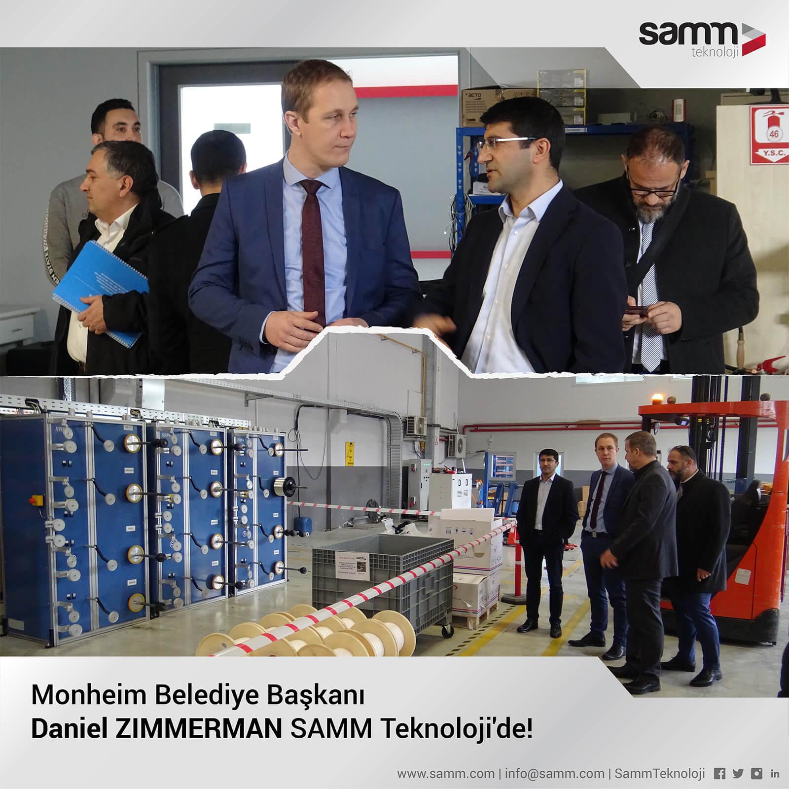 The Mayor of Monheim am Rhein Mr. Daniel Zimmerman Visits SAMM Teknoloji 2