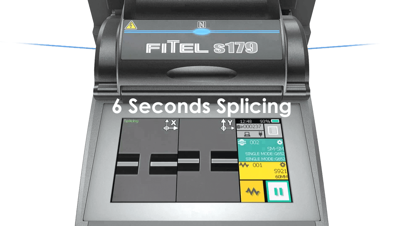 Fusion Splicing S179 - 6 Seconds splicing