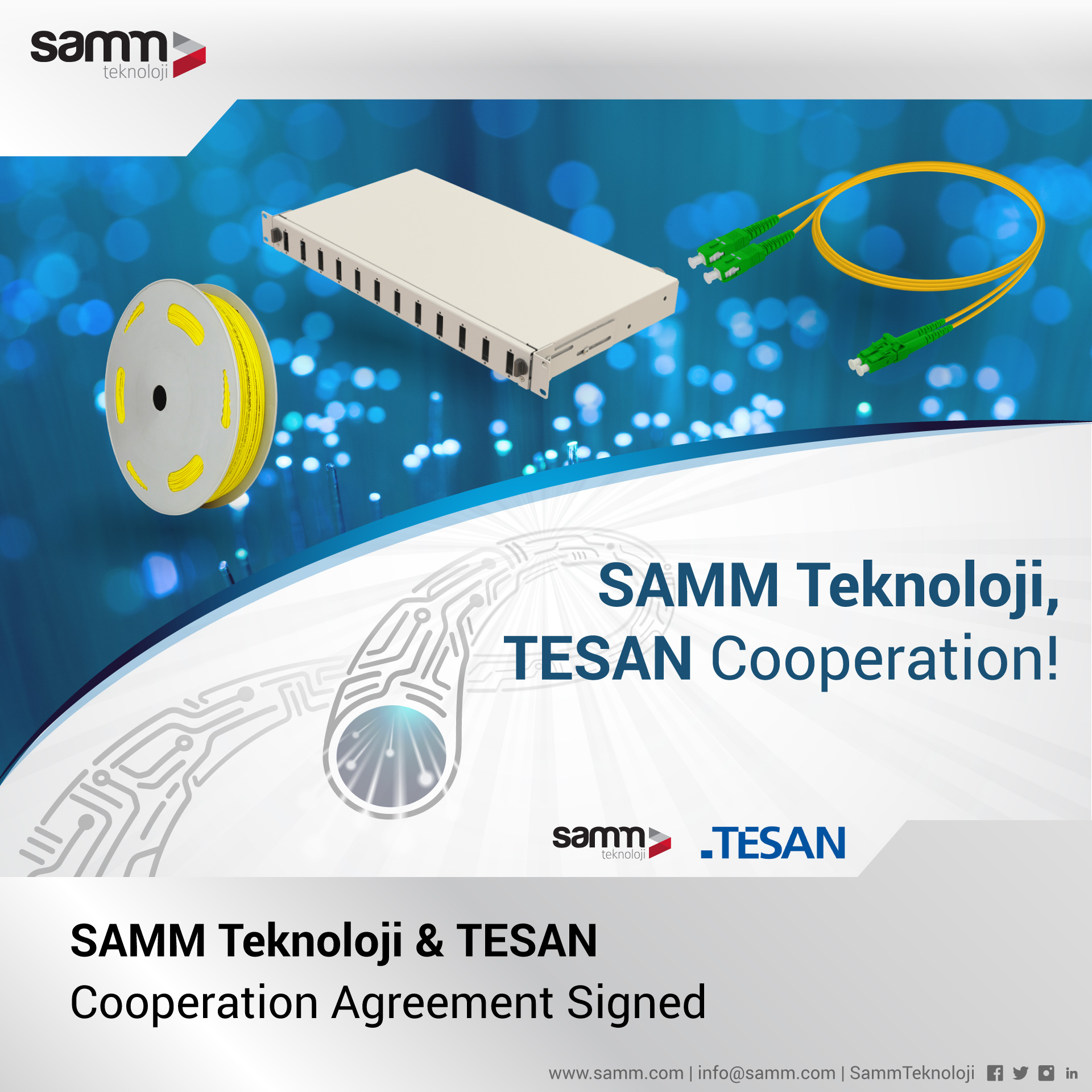 SAMM Teknoloji and TESAN Sign a Cooperation Agreement | Samm Teknoloji