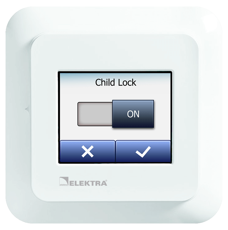 Thermostat Child Lock