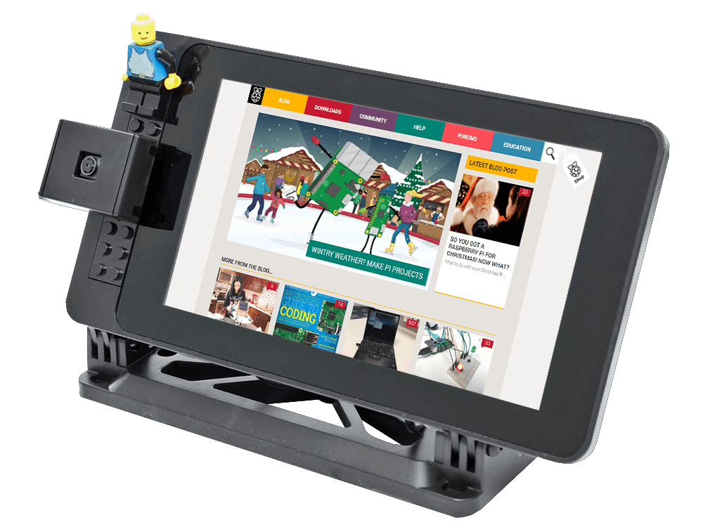SmartiPi Touch Screen Case with LEGO panel