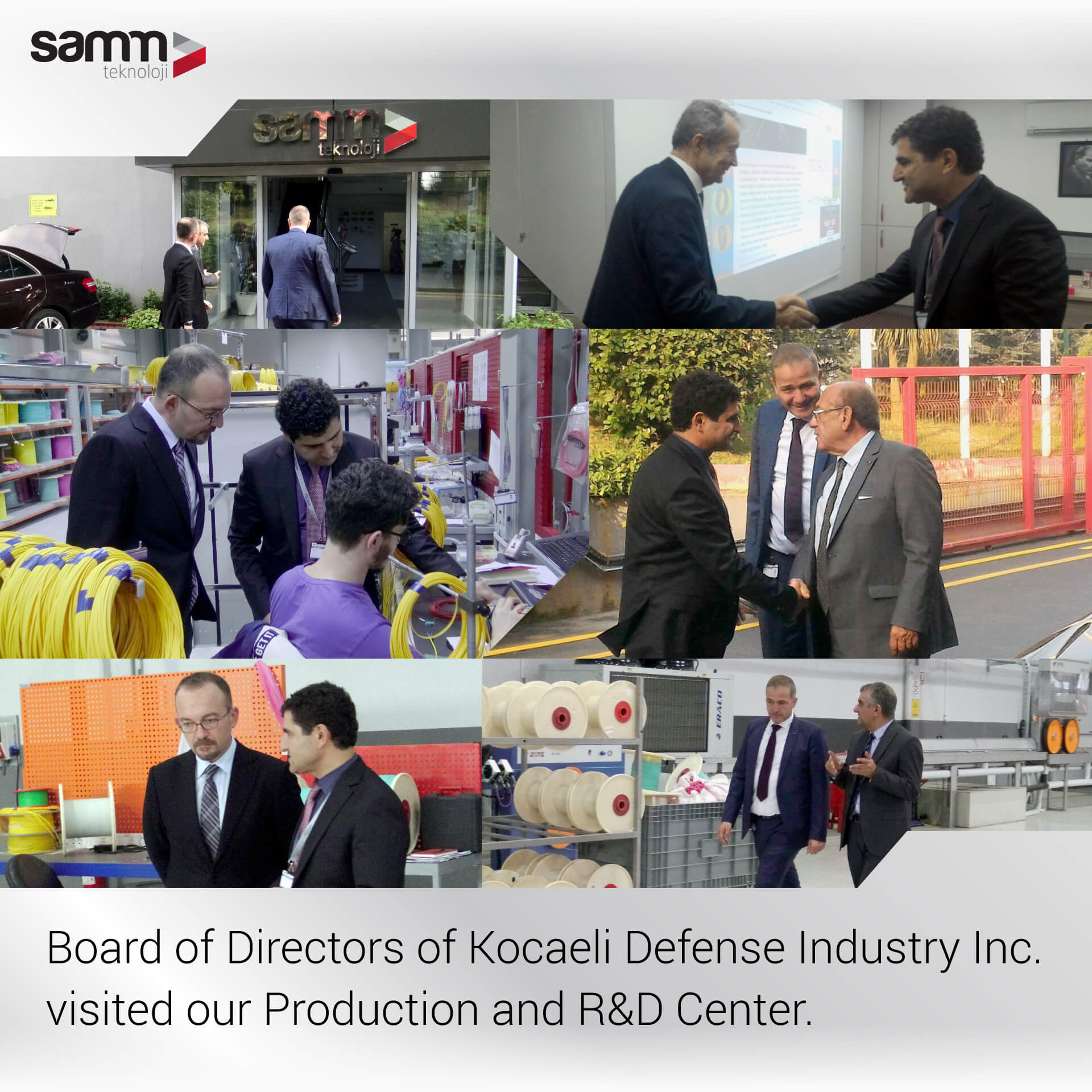 The Board of Directors of Kocaeli Defense Industry Inc.visited our Production and R&D Center.