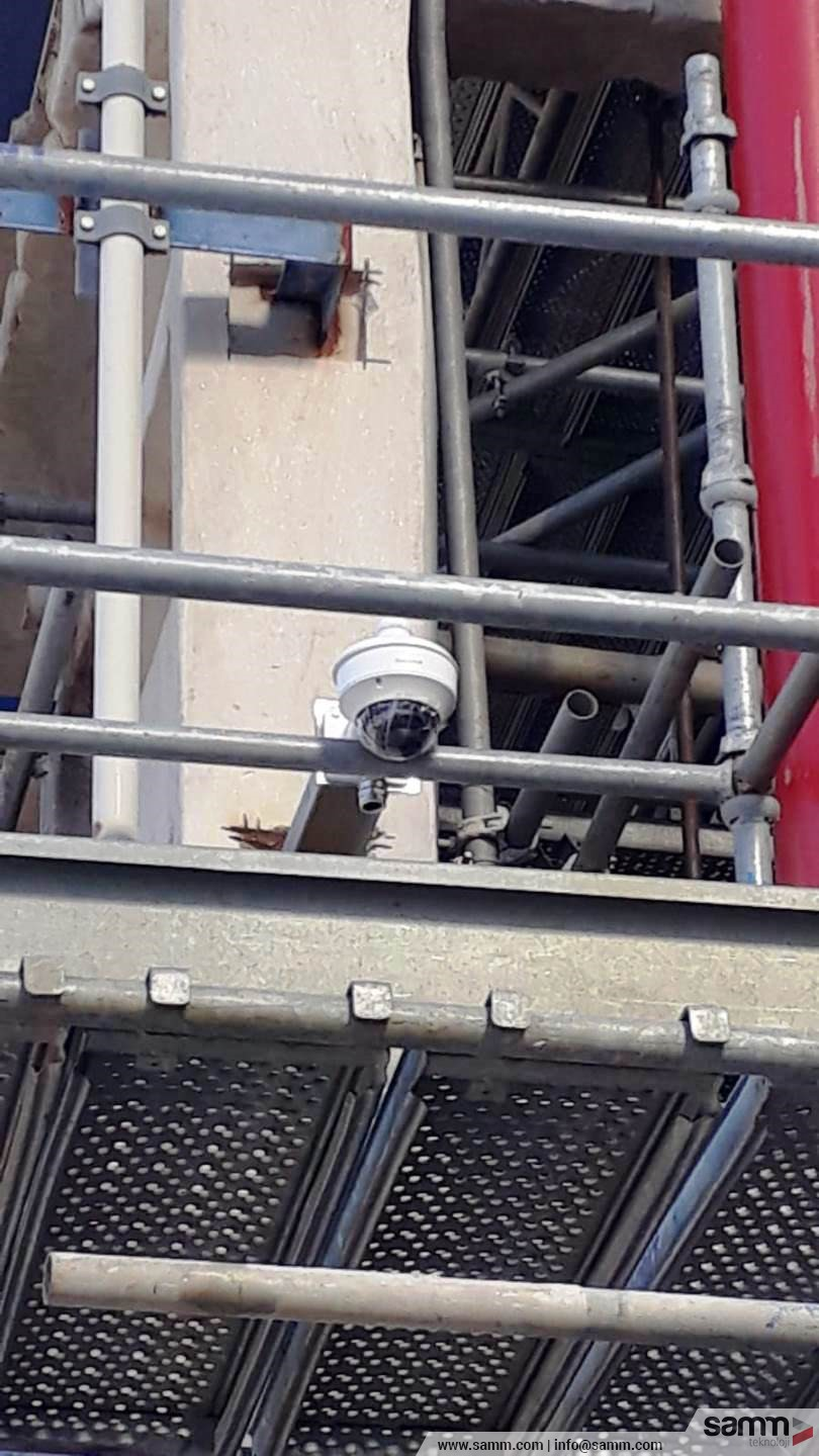 Samm Teknoloji | Dome camera installation for site.