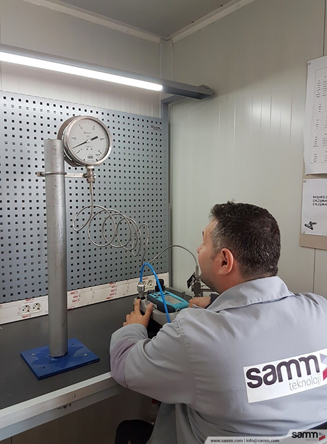 Samm Teknoloji | Industriel (I&C) maintenance and calibration are being served with more than 50 test devices.