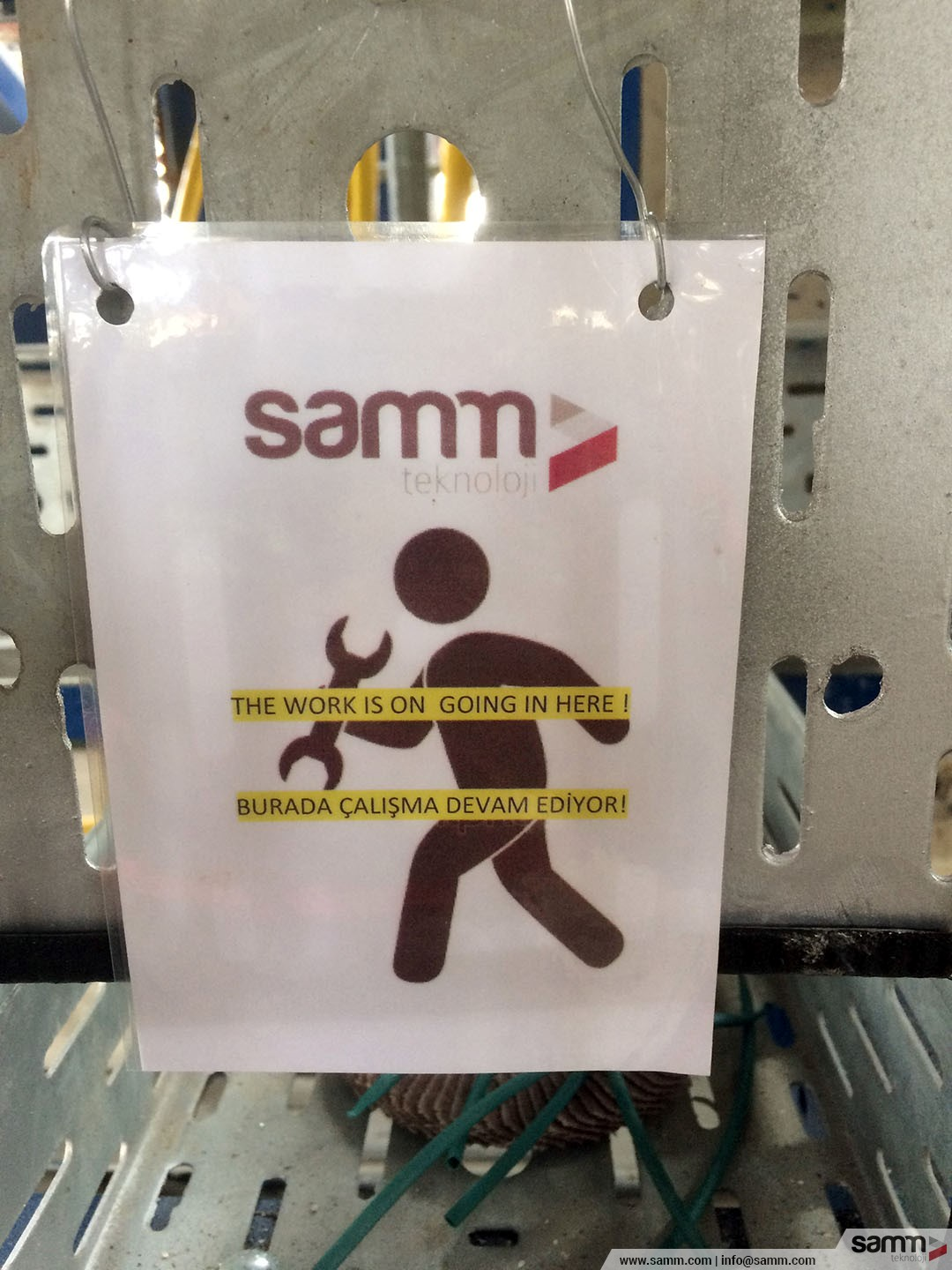 Samm Teknoloji | Label which is being used in break times by an employee.