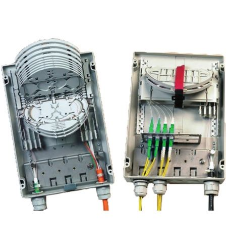 FIST-MB2-T 8 SC-UPC Fiber Capacity, Medium-Size Fiber Splicing and Termination Box with door