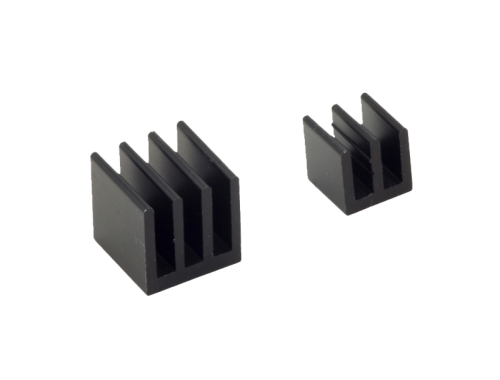 Raspberry Pi Heat Sinks . Black