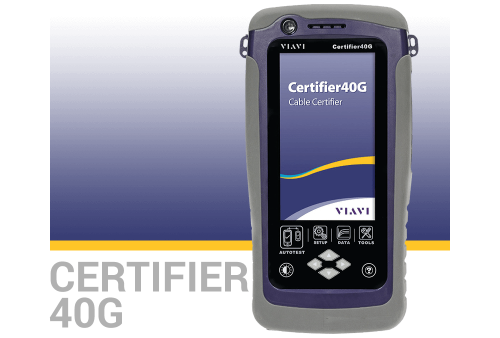 VIAVI Certifier40G Copper and Fiber Test, Certification and Analysis Device