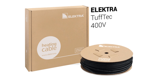 ELEKTRA TuffTec 400V Heating Cable Snow/Ice Protection for Roof and Gutter