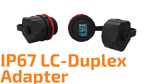Industrial LC-Duplex Optical Adapter - IP67
