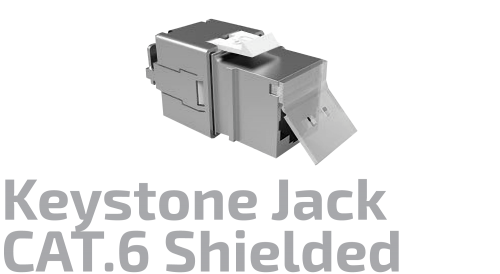Shielded CAT.6 Keystone Jack