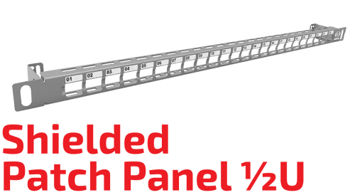 ½U Ekranlı Patch Panel