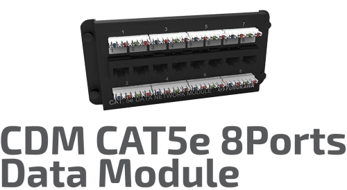 CAT. 5e CDM Data Modülü - 8 Port