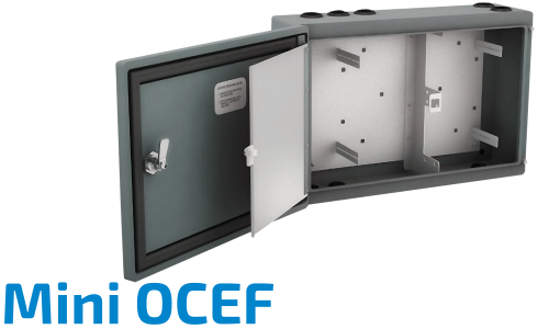 Mini-OCEF Fiber Optic Splice Cabinet
