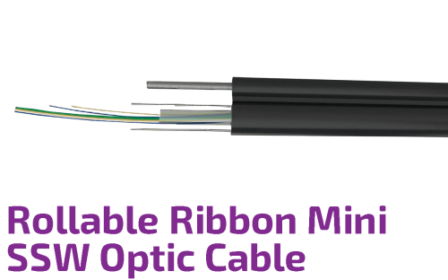 Roll-able Ribbon Mini SSW Optic Cable