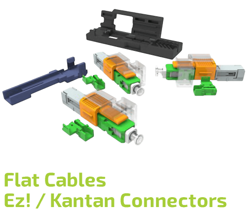 EZ!-Kantan SC Connector for Flat Cables