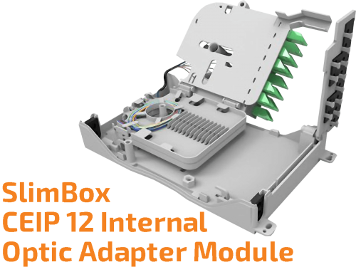 SlimBox CEIP 12 Fiber - Internal Wall Mounted Optic Adapter Module