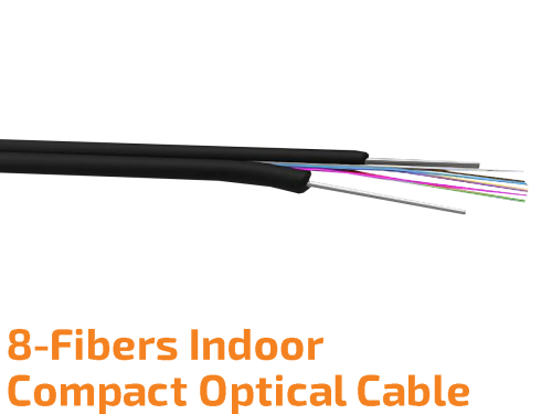 Compact Indoor Optic Cable 8-Fibers