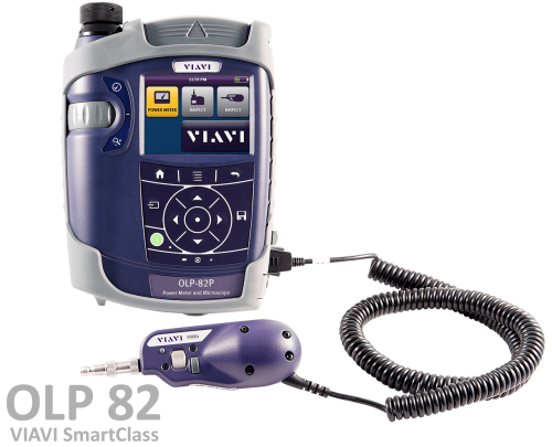 OLP-82/82P SmartClass Fiber Power Meter and Microscope | VIAVI