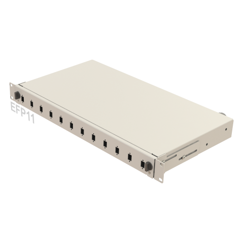 1U Mechanical Slide Fiber Patch Panel | 12 Ports SC-SX