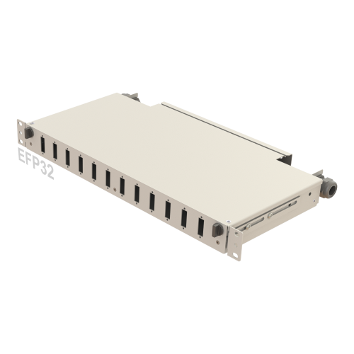1U Teleskopik Ray Fiber Patch Panel | 12 Delik | EFP32