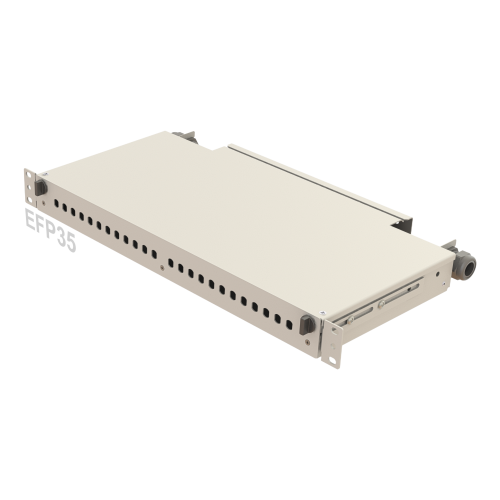 1U Telescopic Rail Fiber Patch Panel | 24 Holes | EFP35