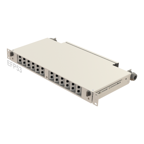 1U Telescopic Rail / AngledFiber Patch Panel | 24 Holes | EFP53