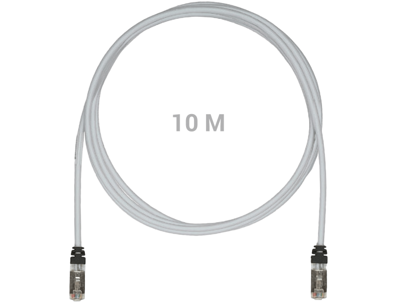 stp6x10mig shielded patch cable cat6a 10gig s  ftp 10m