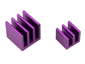 Raspberry Pi Heat Sinks . Purple