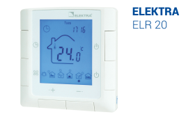 ELEKTRA ELR-20 Thermostat - Programmable Underfloor Heating Controller