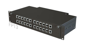 FP13 Fiber Optic Rack Patch Panel / Angled Front-Plate Slide-Out 24 Ports 2U 2-Rows SC-LC-FC