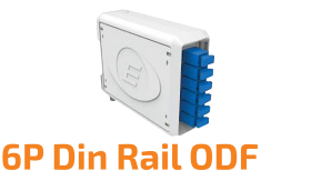 6P Din Rail Optical Distribution Frame